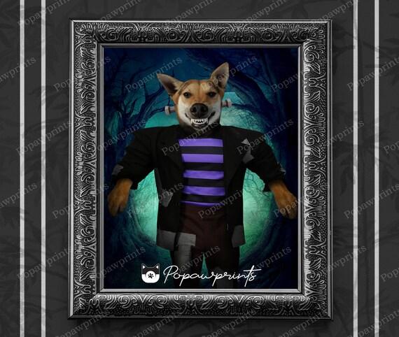 Chucky Custom Pet Portrait Custom Pet Painting Halloween Halloween Costume Childs Play Cat Portrait Pet Halloween Costume