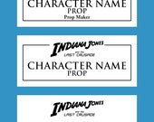 Indiana Jones Custom Metal Plaque for Props