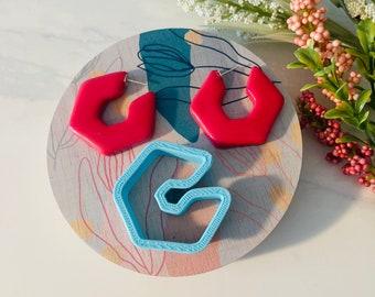 Hexagon Hoop, Clay Cutter, Hexagon Shape, Polymer Clay Cutter, Hoop Mold, Hoop Cutter, 3D Polymer Clay Cutter Set