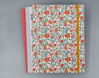 Razai Flower Recycled Journal with Elastic Band | Notebook | Sketchbook |  Flower Print | 6x8 | Unlined
