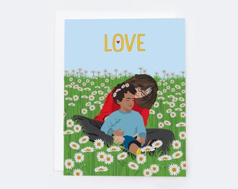 Mother's Love Card (single card)  |  Blank inside with Envelope |   Mother's Day Greeting Card | Love Notecard