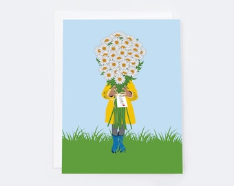 Happy Mama's Day Card (single card)  |  Blank inside with Envelope |   Mother's Day Greeting Card | Notecard