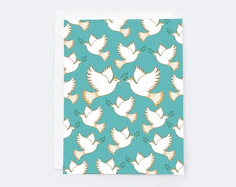 Peace Dove (single card)  |  Blank inside with Envelope | Peace Dove Stationery | Notecard