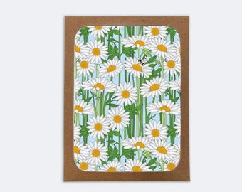 Himalayan Daisy Cards (box of 8) | 8 Blank inside Cards with 8 Envelopes |  Flower Card | Stationery | Notecards