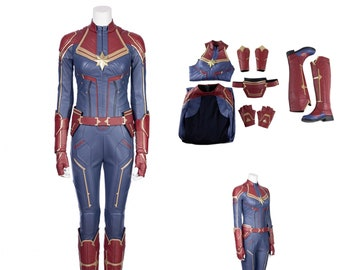 Captain Marvel Costume Etsy And, for captain marvel, he led a team of equally talented artists including jackson sze, ian joyner, anthony francisco, adam ross, tully summers because captain marvel is part of an elite military force, the kree, the design team wanted to create a military space suit that looked like it could endure. captain marvel costume etsy
