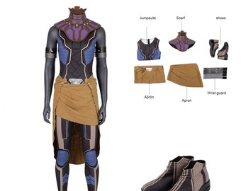 KIDS Shuri Battle Outfit Swimsuit  Leotard  Bodysuit for Black Panther Cosplay