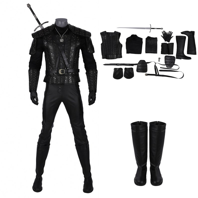 Geralt of Rivia Cosplay Costume Geralt of Rivia Costume Of The Witcher Cosplay The Witcher Cosplay Costume For Halloween Party Man Cosplay