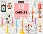 Candles svg,candle svg bundle, candles svg, candle clipart, candle silhouette,christmas candle svg,birthday candle svg,print file,printables