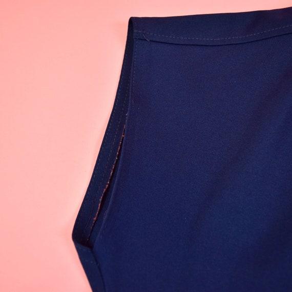 vintage 60s navy blue frill blouse - image 7