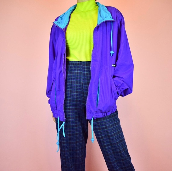 vintage 90s purple windbreaker - image 3