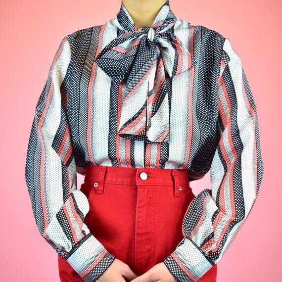 vintage 70s pop art blouse