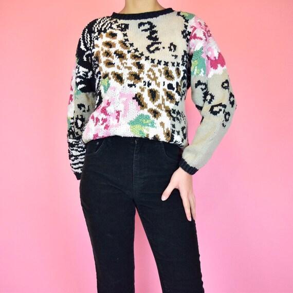 Vintage 80/'s Unbranded Cheetah Print Fringe Bottom Sleeveless Crop Top Size SmallMedium