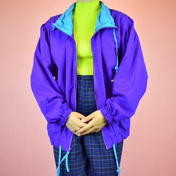 vintage 90s purple windbreaker - image 2