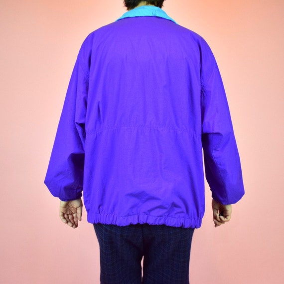 vintage 90s purple windbreaker - image 4