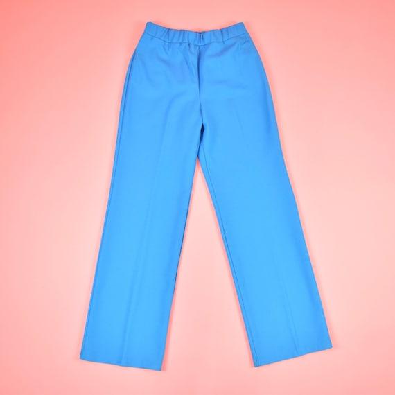 vintage 70s sky blue high waisted pants - image 5