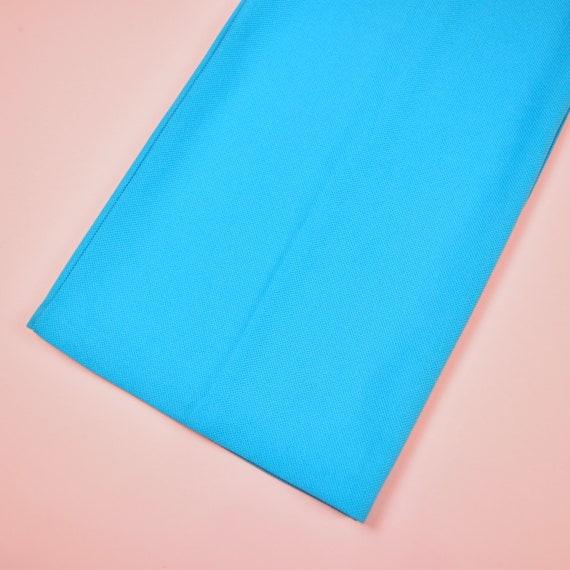 vintage 70s sky blue high waisted pants - image 9
