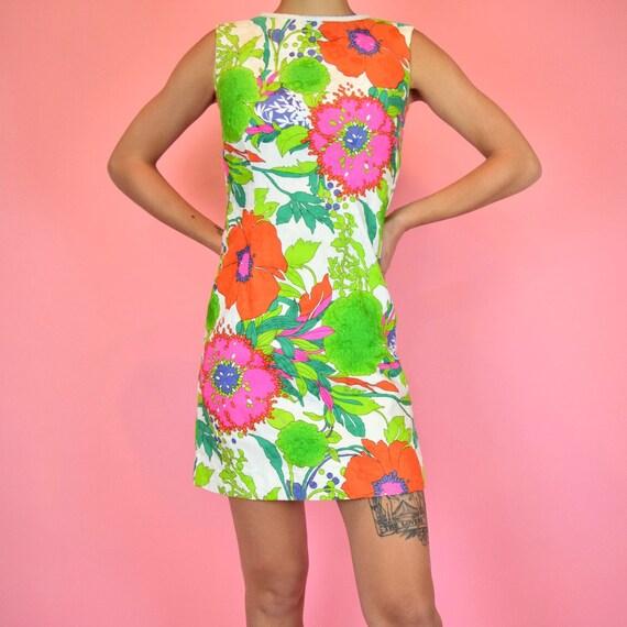 vintage 60s mod floral dress