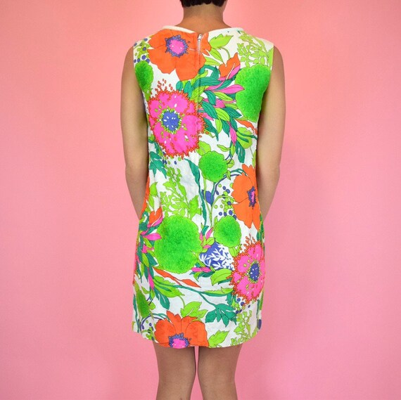 vintage 60s mod floral dress - image 4