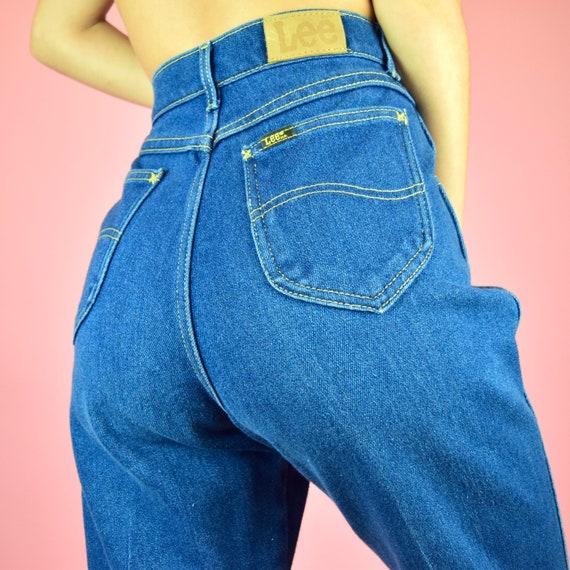 vintage 70s Lee blue mom jeans