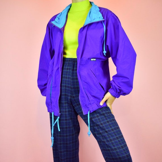 vintage 90s purple windbreaker - image 1