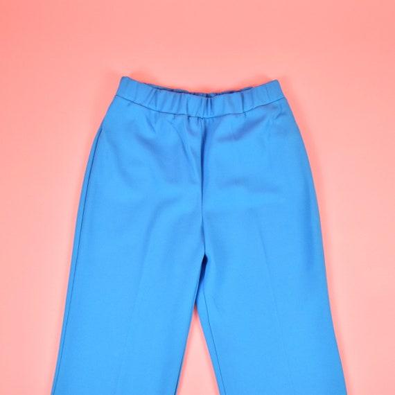 vintage 70s sky blue high waisted pants - image 6
