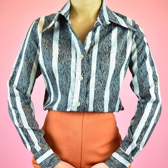 vintage 70s disco blouse