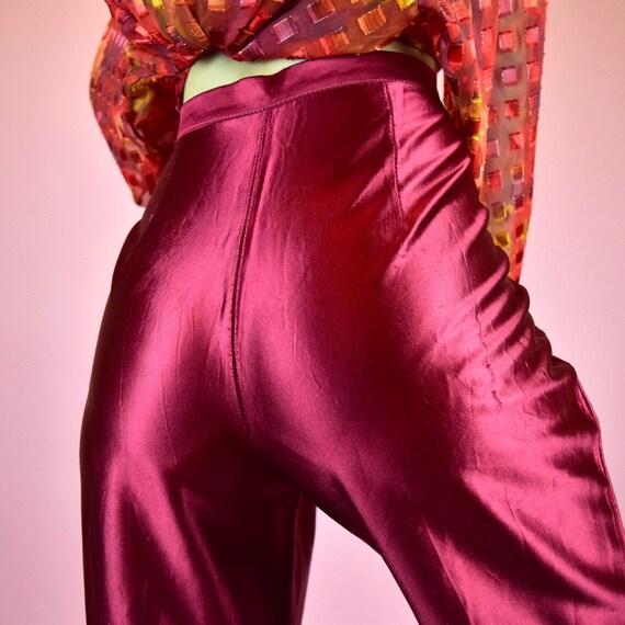 vintage 60s maroon red pants