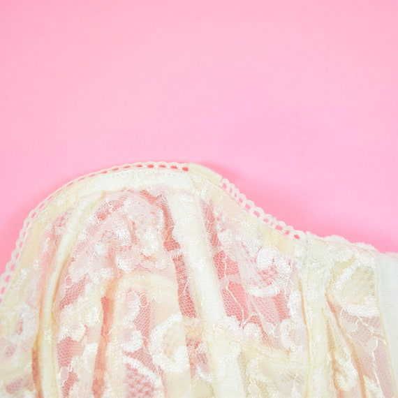 vintage 90s cream white lace corset top - image 8
