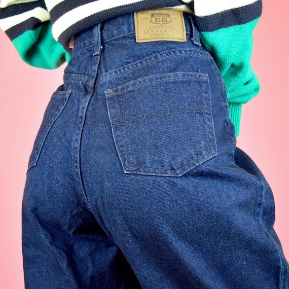 vintage 90s dark wash high waisted jeans