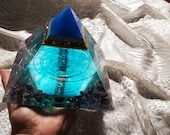 Pyramid for Meditation. Orgonite. Decoration for the house. ORGONIC PYRAMID. Mr Orgone. Healing Reiki. Special gift.