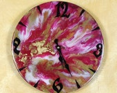 Resin wall clock. Original gift. Modern wall clock.  Wall décor.
