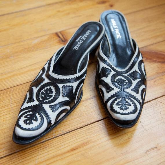 Elegant Vintage Slippers, Closed Toe Ornament Sli… - image 4