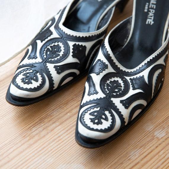 Elegant Vintage Slippers, Closed Toe Ornament Sli… - image 8