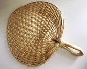 Hand Woven Straw Fan