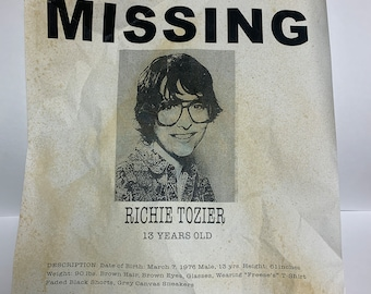 IT Missing Posters Set of 7 - Richie Tozier, Beverly Marsh, Ben, Stan, Eddie, Gorgie, and Bill