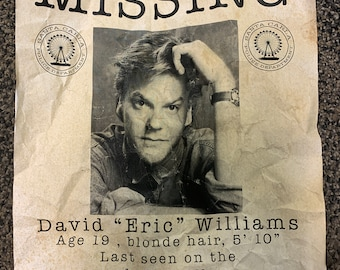 Lost Boys Missing Flyers - Movie Prop Replicas - David, Marco, Dwayne, Paul Missing in Santa Carla