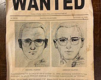 Zodiac Serial Killer Wanted Poster