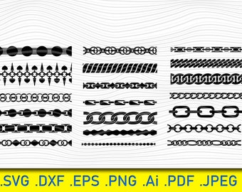 Chain Links Svg File Chain Dxf File Chain Link Png Clip Art Chain Links Digital Clip Art Chain Links Svg Files Chain Links Cut File