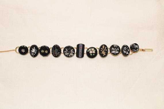 Antique Black Button Bracelet