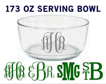 Monogrammed Melamine Wavy Serving Bowl 2 SIZES