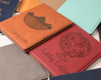 Passport Cover, Passport Wallet, Passport Holder Personalized,  Custom Passport Holder