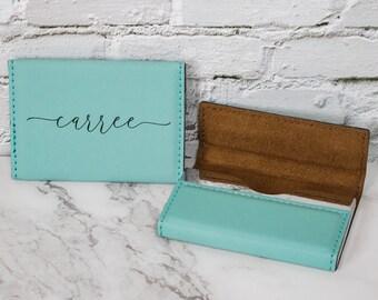 Custom Business Card Holder, Personalized Card Holder, New Employee Gift,  Entrepreneur Gift
