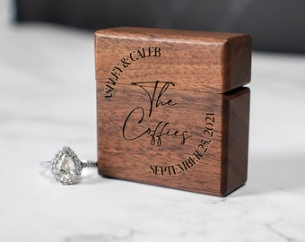 Engagement Ring Box, Wooden Ring Box, Ring Box Proposal, Ring Box for Wedding Ceremony