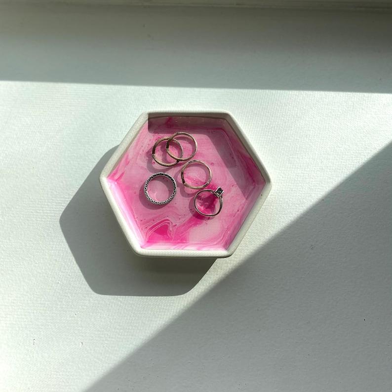 Hexagon Jewelry and Ring Dish