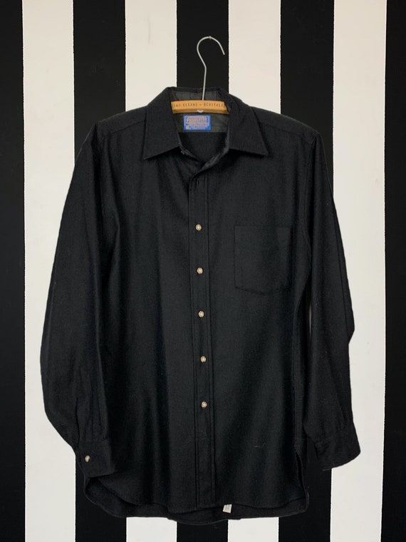 Vintage Black Pendleton Flannel Made in the USA -L