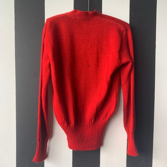 50's Wisconsin Badgers Wool Varsity Sweater - S/M - image 5