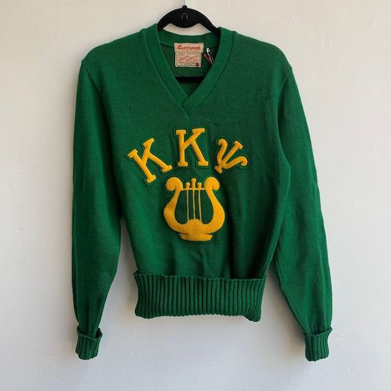 40's Kappa Kappa PSI Green Varsity Sweater