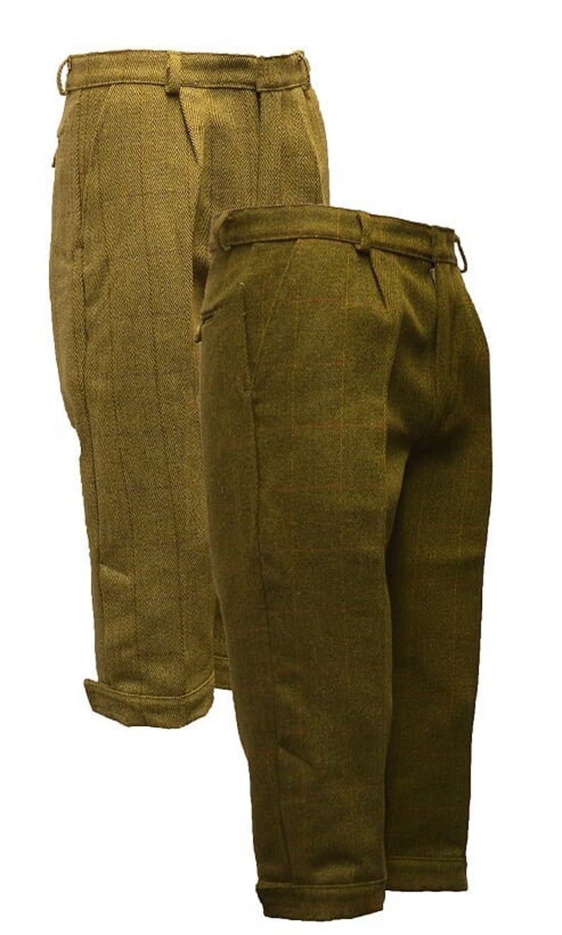 1930s Wide Leg Pants and Beach Pajamas Tweed Plus Fours - Vintage Breeches for Golf Hunting or Dresswear $89.00 AT vintagedancer.com