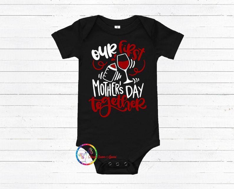 Boy Girl Onesie Baby Shower Gift Gender Reveal IVF Onesie Our First Mother/'s Day Onesie Baby Announcement Onesie Funny Baby Onesie