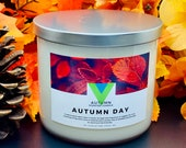 Autumn Day - 18oz 3 Wick Scented Soy Candle Fall Autumn Fragrance